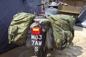 Austin Vince's surplus pannier solution